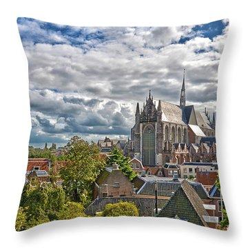 Highland Church Seen From Leiden Castle Throw Pillow