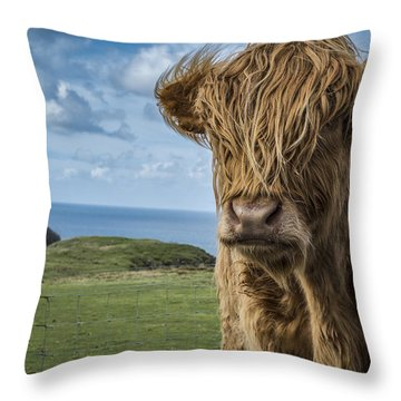 Redhead Beauty Throw Pillow