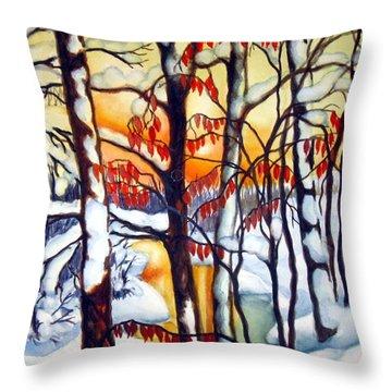 Highland Creek Sunset 1 Throw Pillow