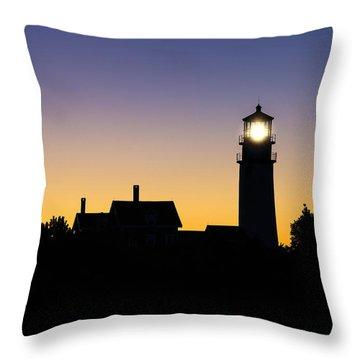 Highland Lighthouse Throw Pillow by John Greim