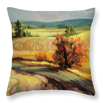 Highland Road Throw Pillow