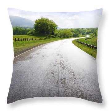 Highland Scenic Highway Route 150 Throw Pillow by Thomas R Fletcher