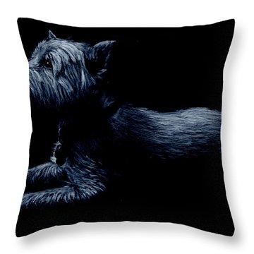 Highland Terrier Throw Pillow