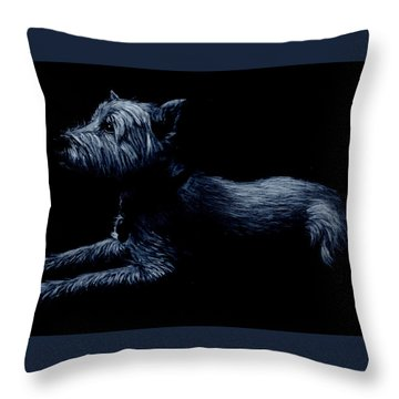 Highland Terrier Throw Pillow