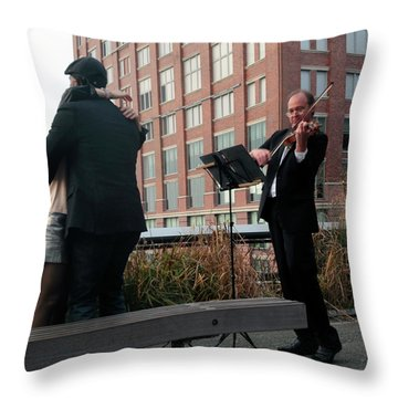 Throw Pillow featuring the photograph Highline Serenade by Madeline Ellis