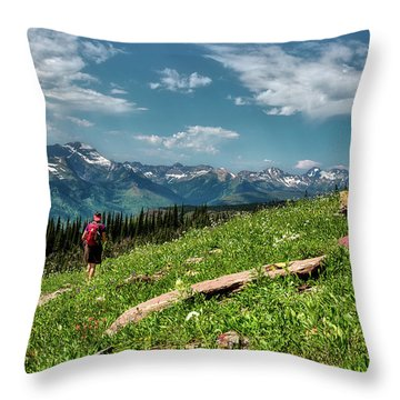 Highline Trail Adventure Throw Pillow