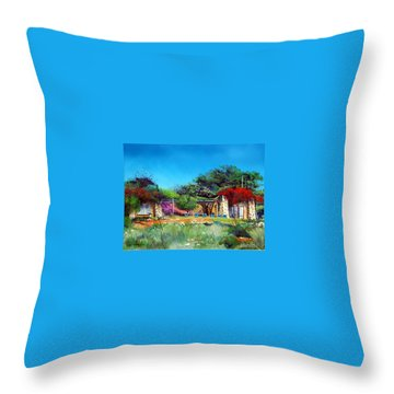 Highveld House Throw Pillow by Tim Johnson