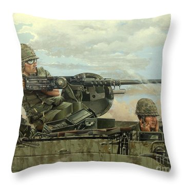 Highway 13 Throw Pillow by Bob  George