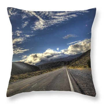 Highway 157 Throw Pillow