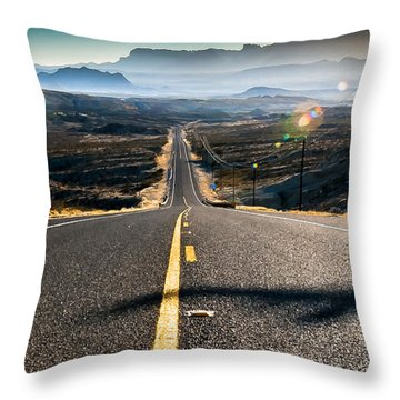 Highway 170 To Big Bend Throw Pillow