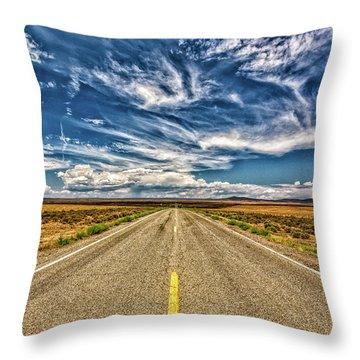 Highway 64 To Taos Throw Pillow