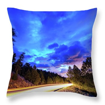 Highway 7 To Heaven Throw Pillow by James BO Insogna