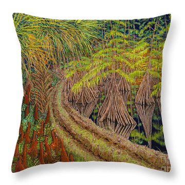 Highway 70 East Circa 1905 Throw Pillow by David Joyner