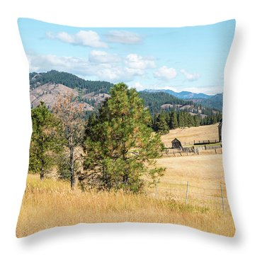Highway 97 Ranch Memories Throw Pillow