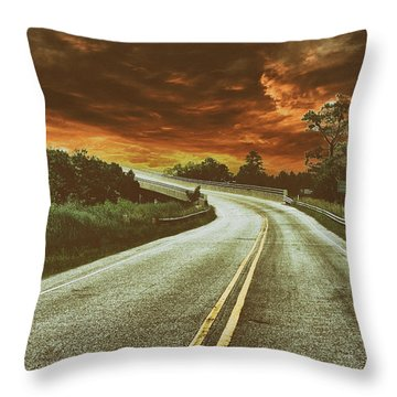 Highway Classic 1 Throw Pillow
