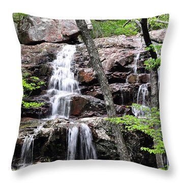 Highway E Falls 9 Throw Pillow by Marty Koch