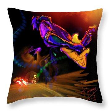 Highway Jam Throw Pillow