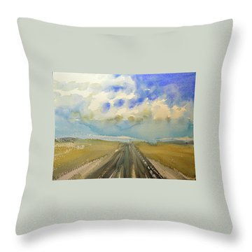 Highway Throw Pillow