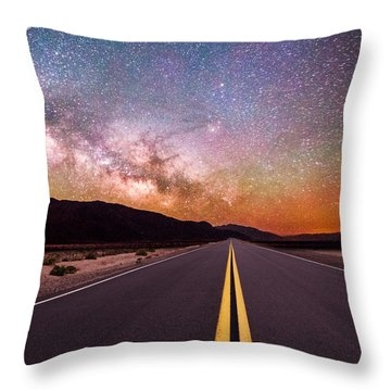 Highway To Heaven Throw Pillow