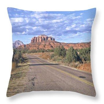 Highway To Sedona Throw Pillow
