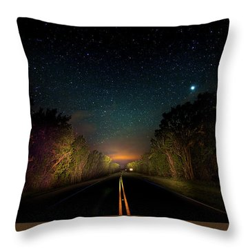 Highway To The Stars Throw Pillow by Mark Andrew Thomas