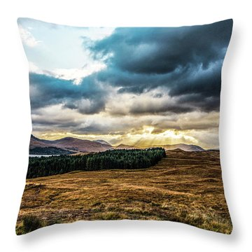 Throw Pillow featuring the photograph Higlands Wonders by Anthony Baatz
