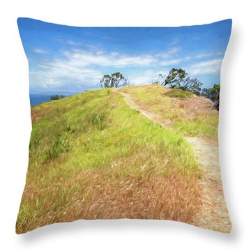 Hike To Whaler's Point Great Barrier Island New Zealand Throw Pillow