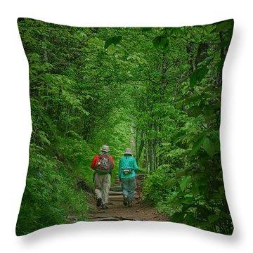 Hiking - Appalachian Trail Throw Pillow
