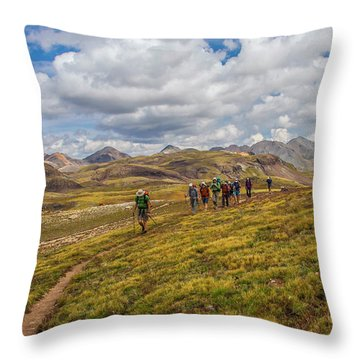 Hiking At 13,000 Feet Throw Pillow