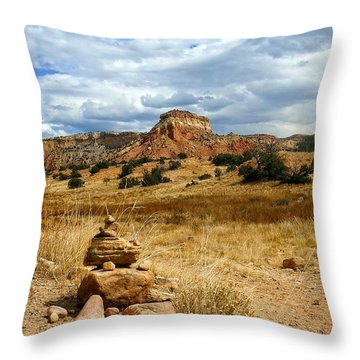 Throw Pillow featuring the photograph Hiking Ghost Ranch New Mexico by Kurt Van Wagner