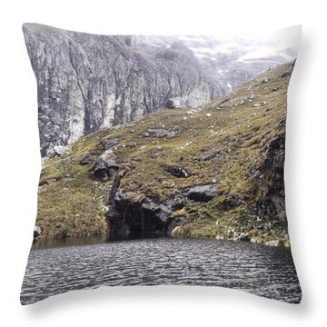 Hiking In The Cordillera Blanca, Peru Throw Pillow
