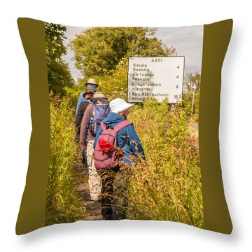 Hiking In The Highlands Throw Pillow