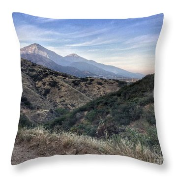 Hiking Johnson's Pasture Throw Pillow