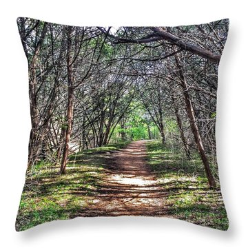 Hiking Meridian State Park  Throw Pillow