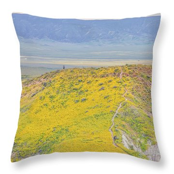 Throw Pillow featuring the photograph Hiking The Temblor by Marc Crumpler