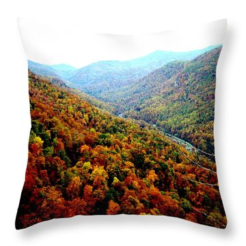 Throw Pillow featuring the photograph Hiking Through The Mountains by Skyler Tipton