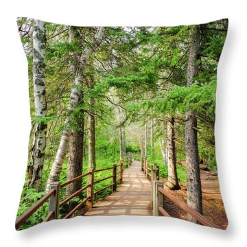 Hiking Trail Throw Pillow