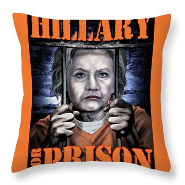 Hildabeast Throw Pillow by Don Olea