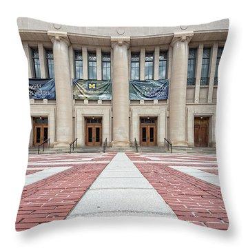 Hill Auditorium U Of M Throw Pillow
