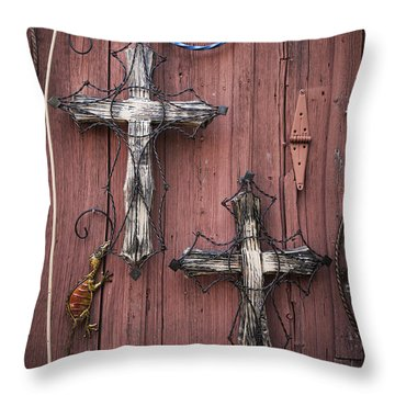 Hill Country Crosses Throw Pillow