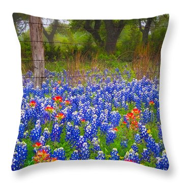 Hill Country Forest Throw Pillow