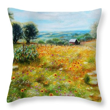 Hill Country Mile Throw Pillow