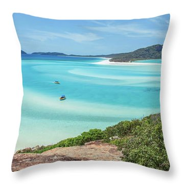 Hill Inlet Lookout Throw Pillow by Az Jackson