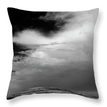 Hill Top Cross Throw Pillow