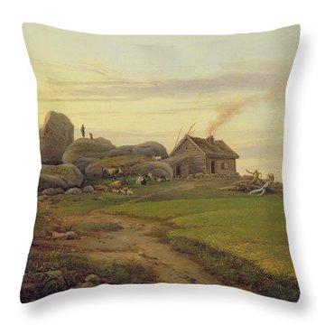Hill Top Throw Pillow