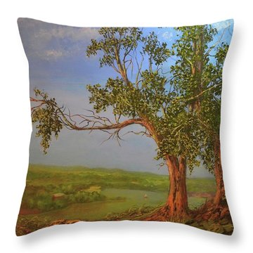 Hill Top Throw Pillow