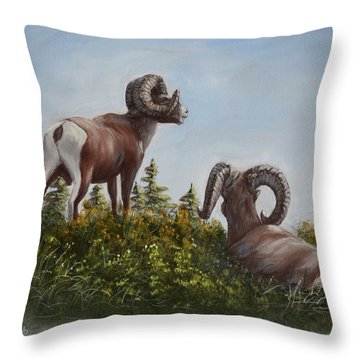 Hill Top View Throw Pillow