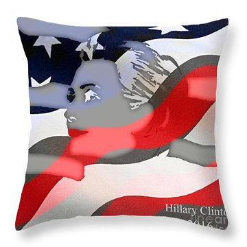 Hillary Clinton 2016 Collection Throw Pillow