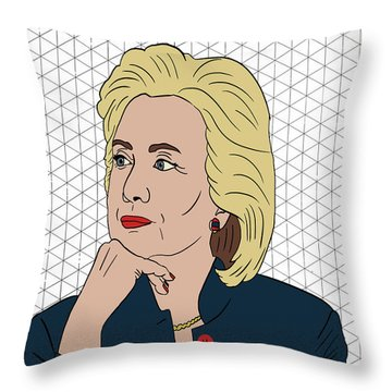 Hillary Clinton I'm With Her Throw Pillow by Nicole Wilson