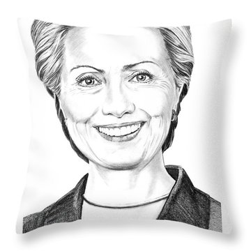 Hillary Clinton Throw Pillow by Murphy Elliott